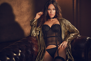 Megan Fox Hot Black Lingerie 2