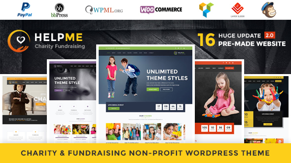 HelpMe v2.8 – Nonprofit Charity WordPress Theme