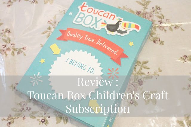 blog review of Toucan Box children's craft subscription service