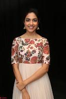 Ritu Varma smiling face Cream Anarkali dress at launch of OPPO New Selfie Camera F3 ~  Exclusive 006.JPG