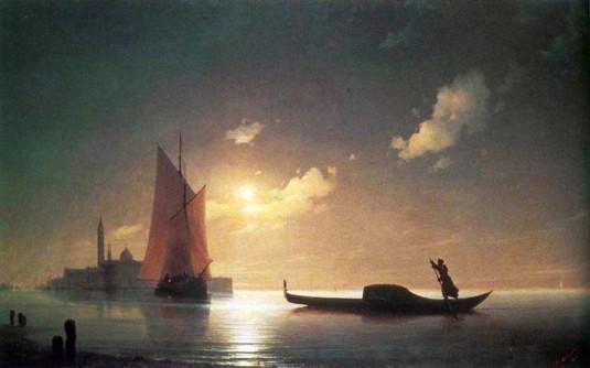 Aivazovksy - Gondolero en el mar nocturno' 1843