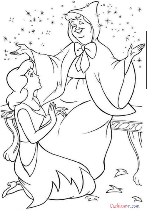 Tranh tô màu công chúa lọ lem