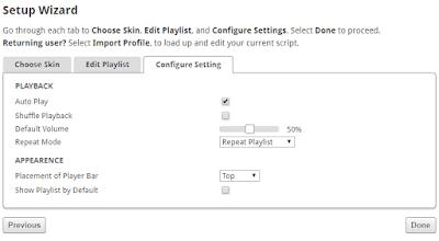 Contoh gambar ilustrasi pengaturan lagu di SCM musik player