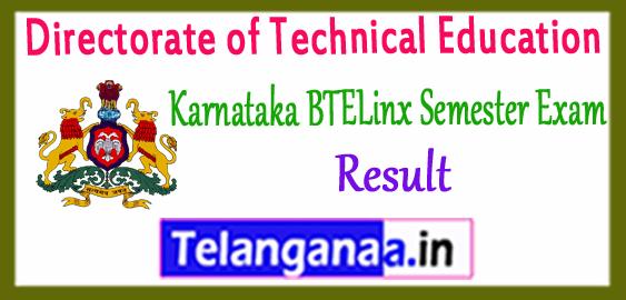 Karnataka BTELINX Diploma 1st 2nd 3rd 4th 5th 6th Semester Result 2017