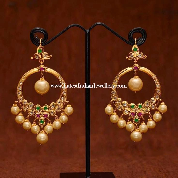 Hoop Style Chand Bali Earrings Latest Indian Jewellery
