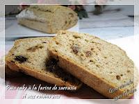 Pain cake sans gluten à la farine de sarrasin