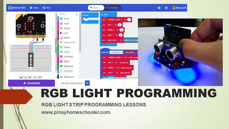 Coding Lessons for Kids RGB Light Programming