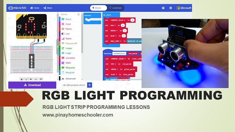 Coding Lessons for Kids RGB Light Programming