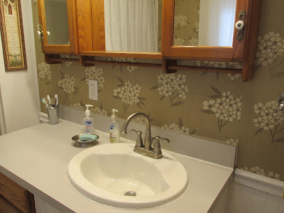 Bathroom makeover -by the sink and mirror