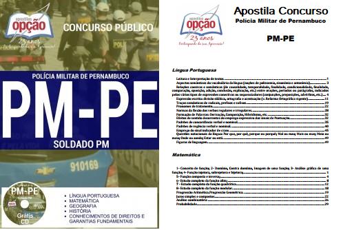 apostila Concurso da Polícia Militar de Pernambuco - edital PM-PE 2018