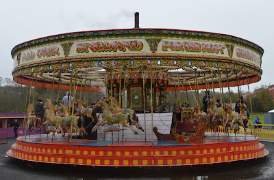 A Bus Trip to the Horses at War Event at Beamish - carousel ride