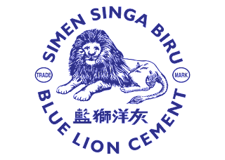 Blue lion cement Logo Vector