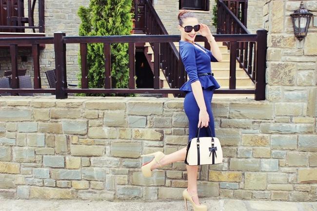 Sheinside nude beige platform high heels