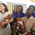 See Photos: Iara Oshiomole donates relief materials to IDP in Edo
