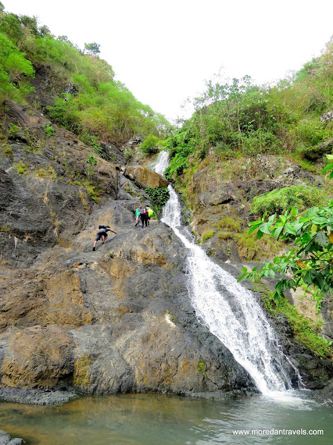 Rock Scrambling at the Second Level of Tungtong Falls
