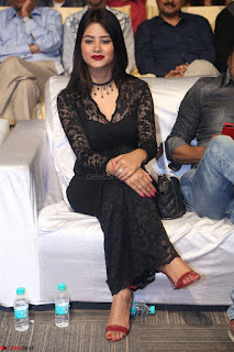Actress Monica in spicy transparent Black Top at O Pilla Nee Valla Movie Audio Launch Feb 2017 001.JPG