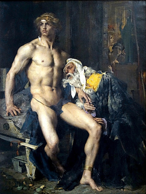 Jules Bastien-Lepage - Priamo supplica Achille