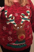 Reindeer sweater, ugly Christmas sweater