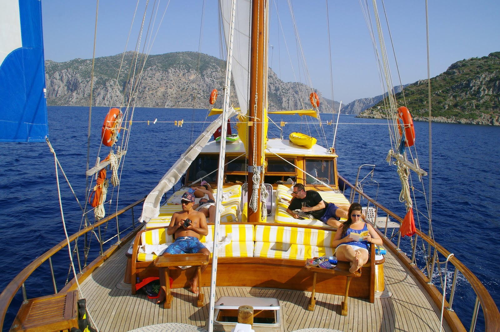 Relaxing on Turkey Sailing Boat