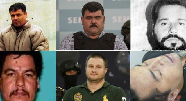 Estos son los 100 líderes criminales arrestados o abatidos en México