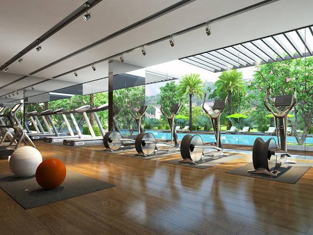 Phòng tập Gym với trang thiết bị hiện đại