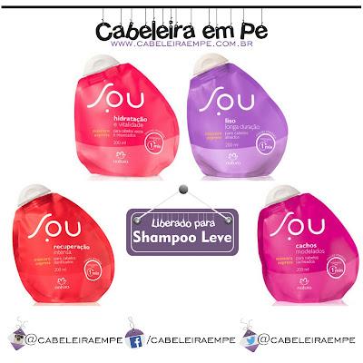 Composição Mascaras Express Linha SOU (Hidratação, Liso, Recuperação e Cachos) Natura Liberadas para Low Poo (Shampoo Leve)