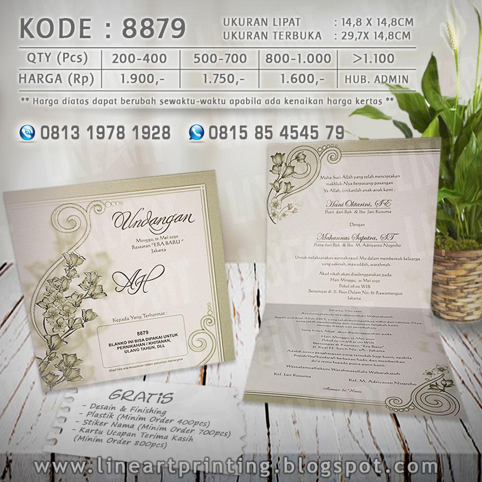 Lineart Printing Harga Undangan Kartu Kode Blangko 88187 8879