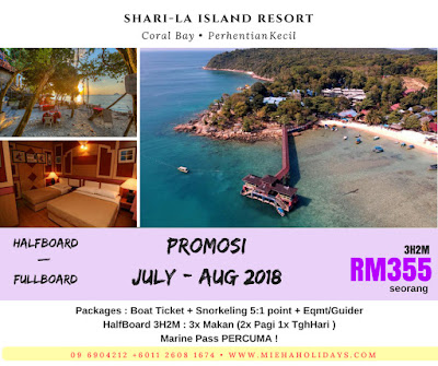 Pakej Pulau Perhentian : Sharila Island Resort Perhentian Kecil