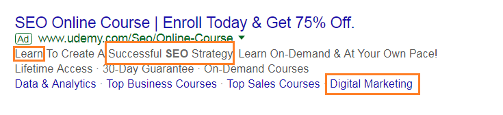 add adwords ads in meta description