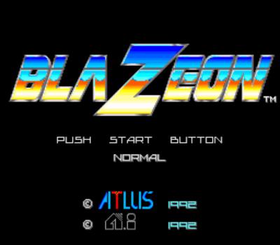 【SFC】究極合體戰機(Blazeon)原版+無限生命版!