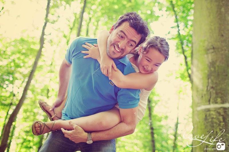 séance photo fille et père ça rigole ensemble