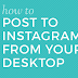 Post Pictures On Instagram On Computer