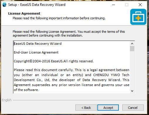 Cara install EaseUS data recovery wizard pada Windows 5