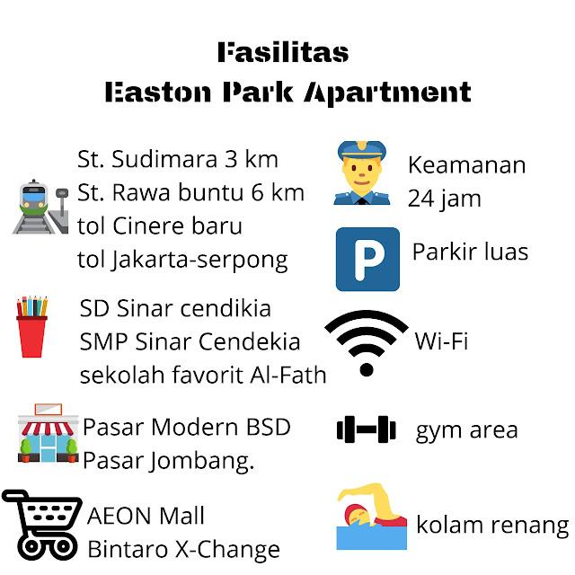 Fasilitas Easton Park Apartment di Serpong Tangerang