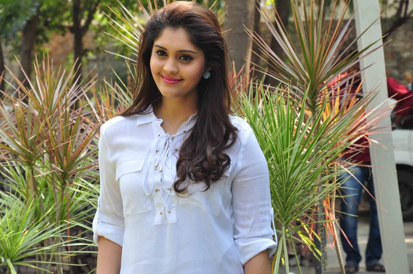 Surabhi Stills In White Dress