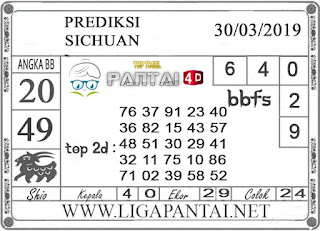 """Prediksi Togel """"SICHUAN"""" PANTAI4D 30 MARET 2019"""
