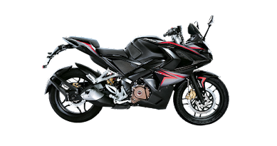Bajaj Pulsar RS 200 Black sport bike Image