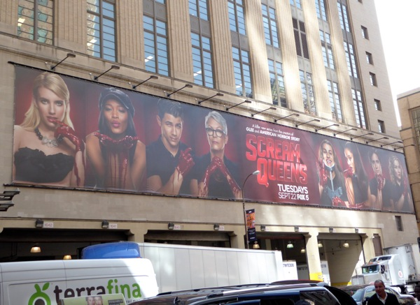 Scream Queen series launch billboard NYC