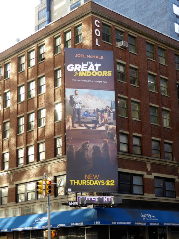Great Indoors series billboard NYC