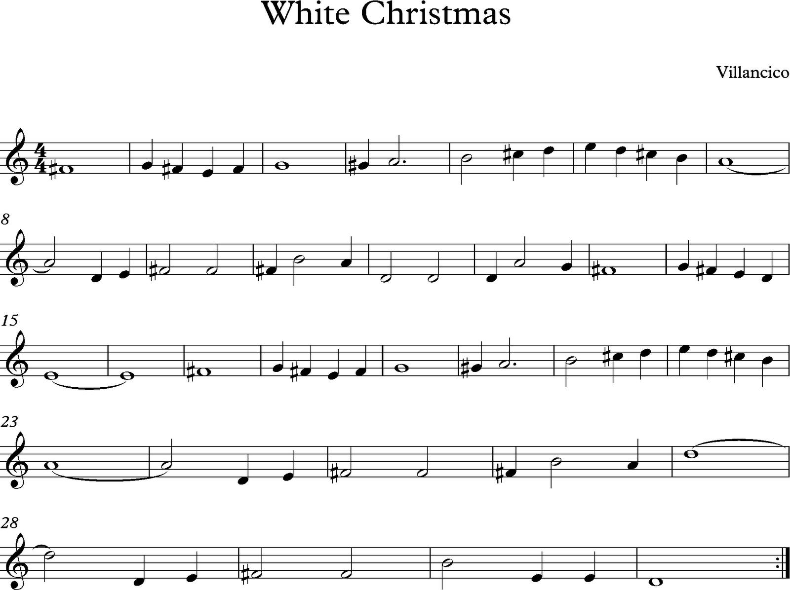 descubriendo la musica partituras para flauta dulce o de pico white christmas flauta dulce o de pico white christmas