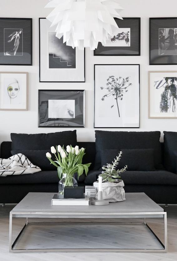 detalles del salón de una casa minimalista