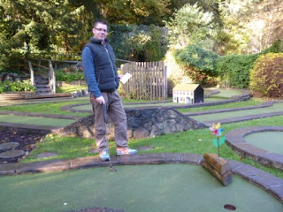 Richard Gottfried at the excellent Cheddar Crazy Golf course