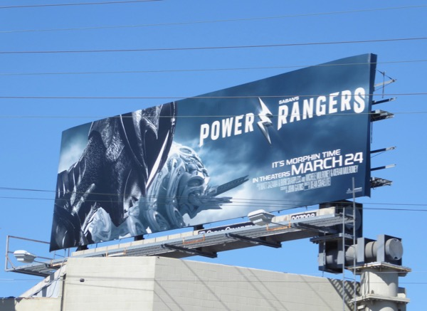 Power Rangers Black Ranger billboard