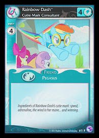 My Little Pony Rainbow Dash, Cutie Mark Consultant General Fixed Set CCG Card