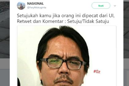 """Postingan Konyol Ade Armando Dibalas Polling """"Pecat Ade Armando dari UI"""" Setujukah Ade Dipecat?"""