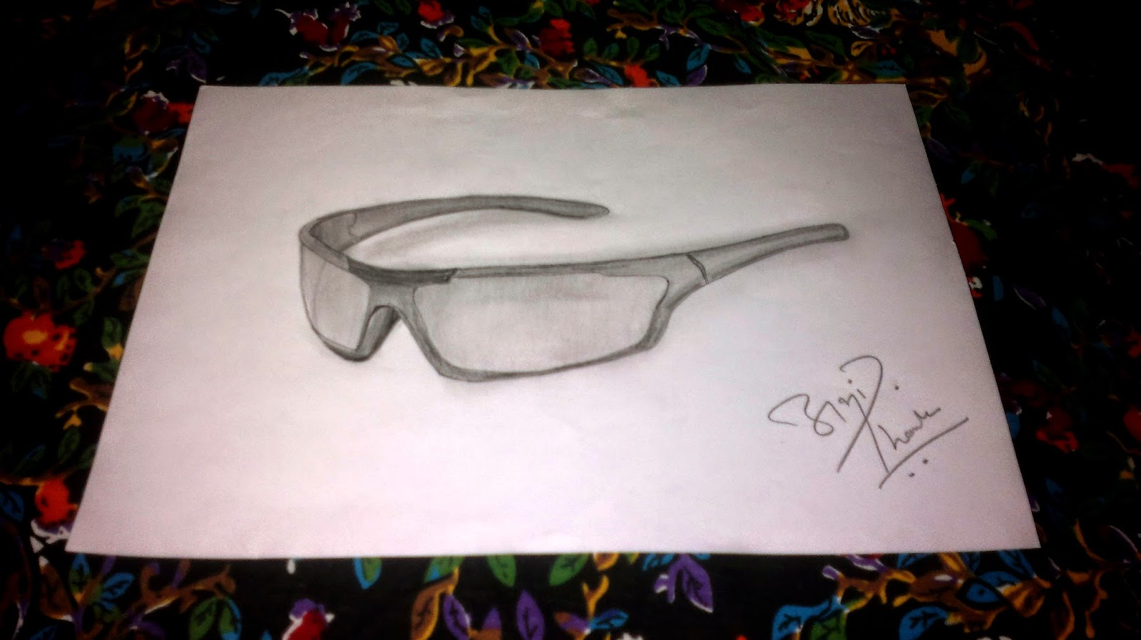 3D Sunglass Sketch