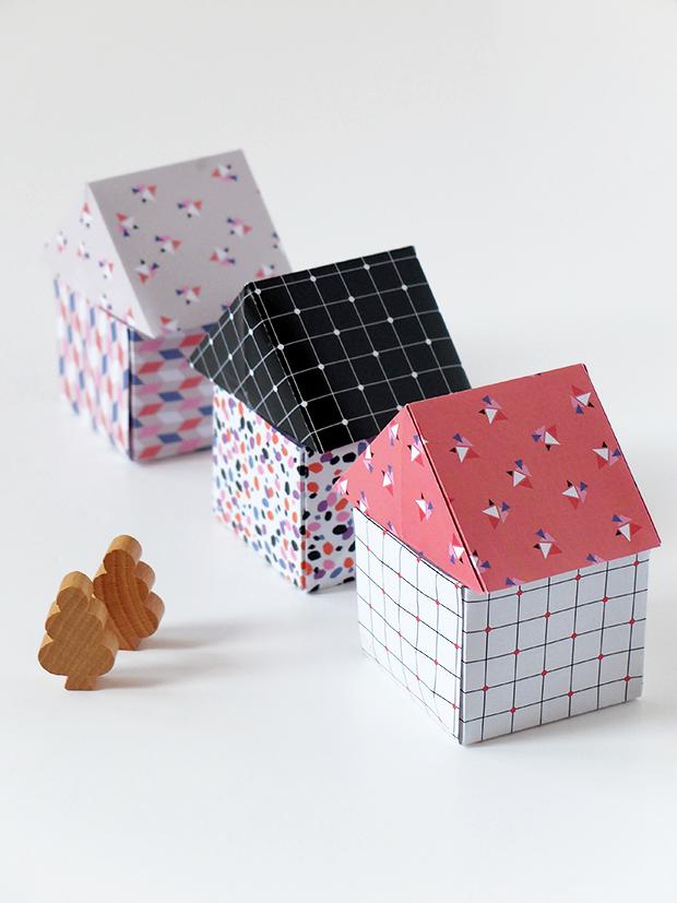 bluebells design little origami houses