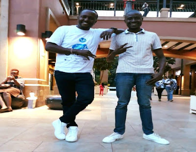 Mzazi Willy M. Tuva and Changez Nzai in Makueni royal media tour. PHOTO | Changez