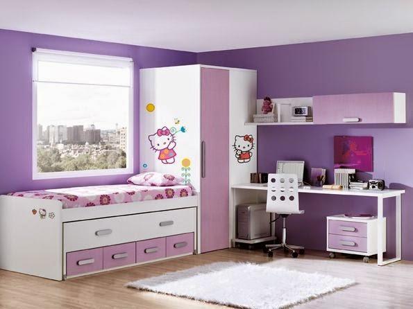 Cuartos de ni as en colores morados dormitorios colores for Juego de habitacion moderno