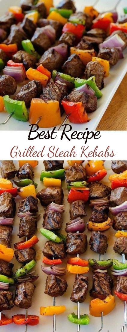 Grilled Steak Kebabs #healthyfood #dietketo